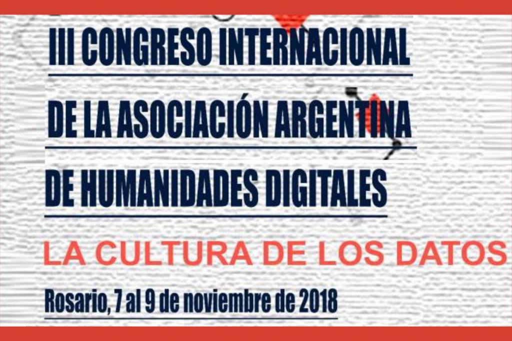 III Congreso Internacional de la Asociación Argentina de Humanidades Digitales