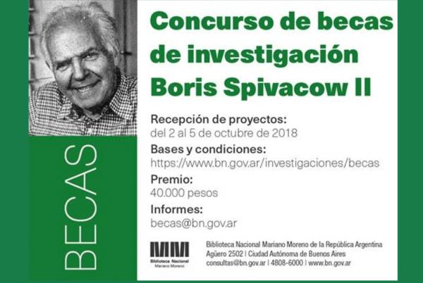 Becas de investigación Boris Spivacow II (Biblioteca Nacional)