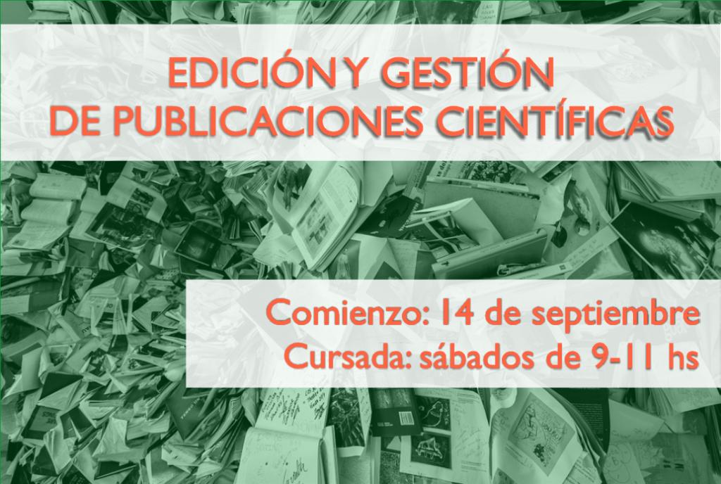 Edición y gestión de publicaciones científicas