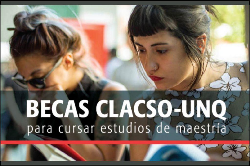 Becas para Maestrías (modalidad virtual) – CLACSO y UNQ