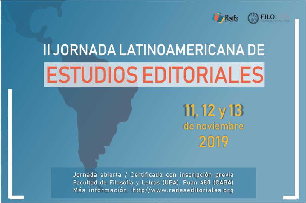 II Jornada Latinoamericana de Estudios Editoriales 2019